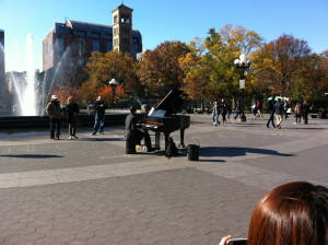 Colin Huggins, the Washington Square pianist