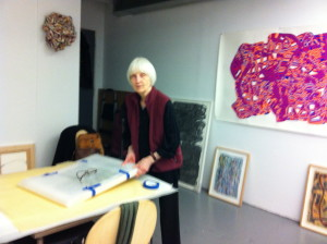 Clover Vail in her studio