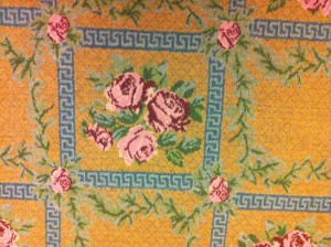 A rose covered carpet at the Portland library