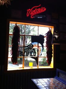 Hanging chilis, looking out the window at Orlando's