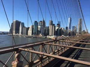 Brooklyn Bridge, looking toward Manhattan