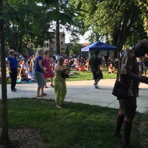 Dancing at the Memorial